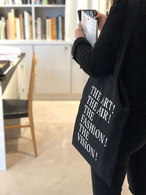 """Tote bag """"the Art, The Air, The Fashion, the Vision"""""""